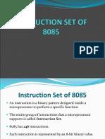 Instruction Set of 8085 - GDLC