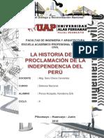 La Historia de La Proclamación de La Independencia Del Perú