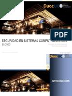 Seguridad en Sistemas Computacionales Clase 1