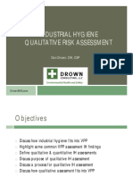Industrial Hygiene Qualitative Risk Assessment - Dan Drown CIH CSP