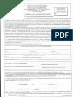Formulário de Apresentação