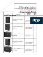 全系列 2016 Sound System Pricelist-GuiTeng