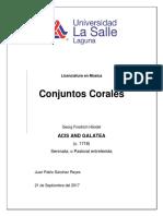 Conjuntos Corales V