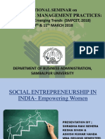 Social Entrepreneurship in India (Empowering Women)