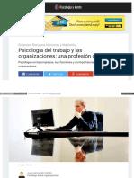 Psicologia Trabajo Organizacion