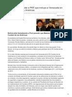 Nodal.am-evo Morales Le Pide a PKK Que Incluya a Venezuela en La Cumbre de Las Américas