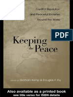 (War and Society 8 ) Graham Kemp, Douglas P. Fry-Keeping the Peace_ Conflict Resolution and Peaceful Societies Around the World (War and Society (Routledge (Firm)), V. 8.)-Routledge (2004)