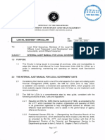 Local Budget Circular No. 110 - Internal Audit Manual for Local Government Units