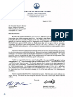 Council members' letter to DC Mayor on Metro funding