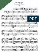 Franz Joseph Haydn - Piano Sonata Hob XVI Nr 34