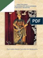 FOLLETO Trecenario Santa Catalina de Alejandria