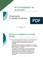 Etica de La Investigacion en Ciencias Sociales