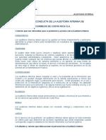 Codigo de Conducta de La Auditoria Interna de Correos de Costa Rica S.a.