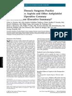AspirinAntiplateletAgentsDuringOperativeCoronaryRevasc