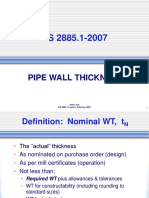 Peter Tuft - As2885 Pipe Wall Thickness
