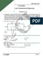 GATE ECE 2001 Actual Paper