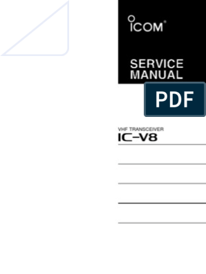 Icom IC-V8 Service Manual | Detector (Radio) | Amplifier