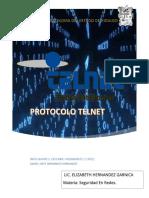 (Daniel Jafet Zeferino)Protocolo Telnet