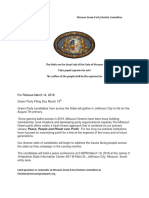 Press Release Green Party Filing Day