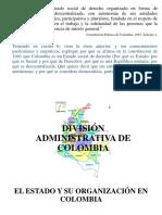 Administración Del Territorio Colombiano.
