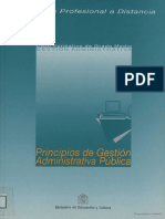 Principios de Gestión Administrativa Pública