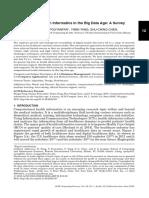 Computational Health Informatics in the Big Data Age - A Survey