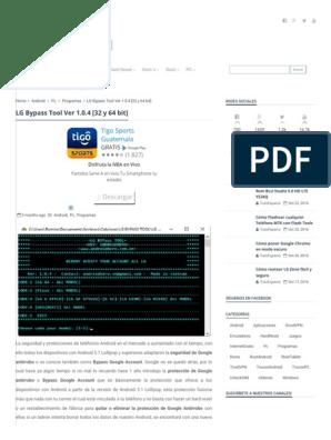 LG Bypass Tool Ver 1 0 4 [32 y 64 Bit] - TochoMorocho