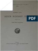 Giuseppe Tucci 1971 Minor Buddhist Texts Part 3