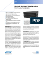 DX4700-DX4800 Series H.264 Hybrid Video Recorders Specification Sheet