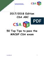 CSA ABC 50 Top Tips to Pass the CSA