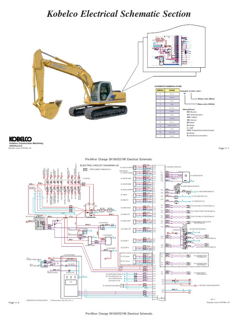 259725603 kobelco sk210 wiring rh scribd com kobelco rk70 wiring diagram kobelco crane wiring diagram