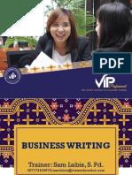 Teaching Business Writing (Writing for Impact) Unit 2B