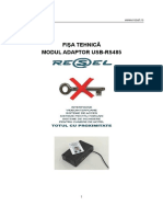 Fisa Tehnica USB-RS485 Adobe
