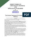 Short Works on Sri Nisargadatta Maharaj and Sri Ramana Maharshi