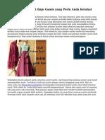 Bermacam Manfaat Baju Gamis yang Perlu Anda Ketahui