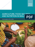 Agriculture, food security, and nutrition in Malawi