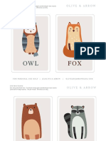 Olive and Arrow - Woodland Flashcards - For Personal Use Only