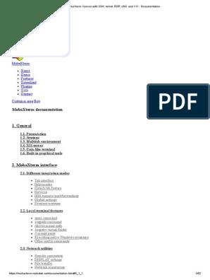 MobaXterm Xserver with SSH, telnet, RDP, VNC and X11