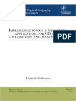 Implementation of a Geoserver Application for GIS Data Distribution and Manipulation