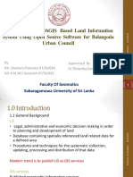 Development of WebGIS Based Land Information System Using Open Source Software for Balangoda Urban Council