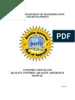 Const Plans QC-QA Manual