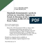 Barni Et Al BR-319 Impacto Em Roraima-Port