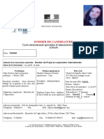 Dossier de Candidature CISAP 3]