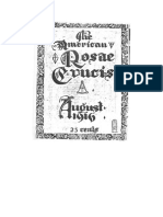 AMORC-The American Rosae Crucis 08 Agosto 1916 Completo Traducido Al Español