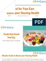 Food for Your Ears - Boost Your Hearing Health - EarGuru.in