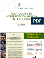 Política SIB Basada en La Ley 29783 (1)