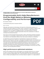 Programmable Socs Help Manufacturers Find the Right Balance