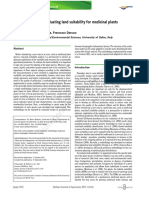A Methodology for Evaluating Land Suitability for Medicinal Plants at a Regional Level