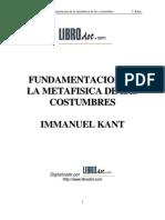 Fundamentación de la metafísica de las costumbres KANT