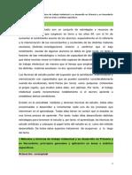 Métodos y técnicas de trabajo intelectual y su desarrollo en Primaria y en Secundaria